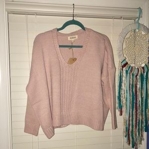 Listicle Light Pink Sweater